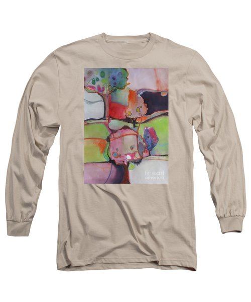Long Sleeve T-Shirt featuring the painting Landscape by Michelle Abrams