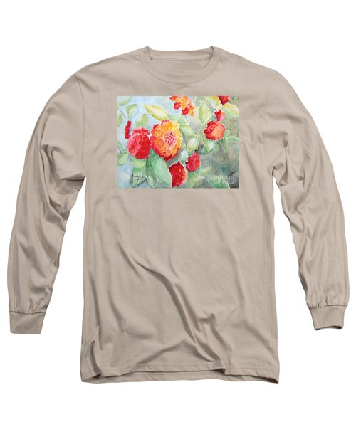 Lantana II Long Sleeve T-Shirt by Marilyn Zalatan