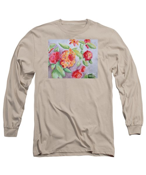 Lantana Long Sleeve T-Shirt by Marilyn Zalatan