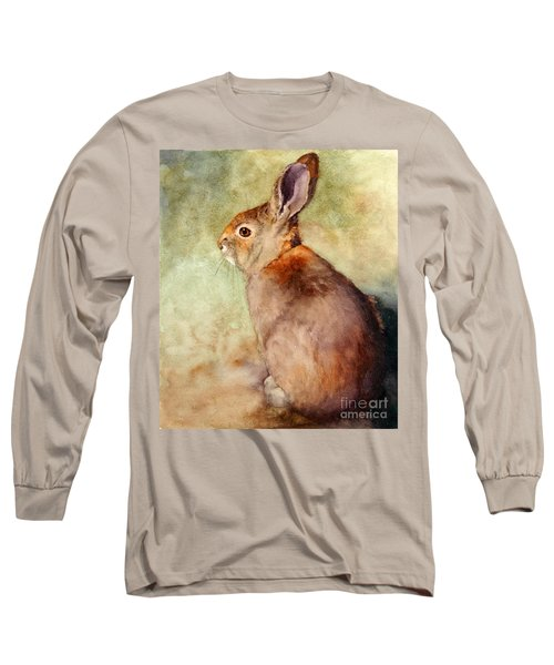 Long Sleeve T-Shirt featuring the painting Lapin by Bonnie Rinier