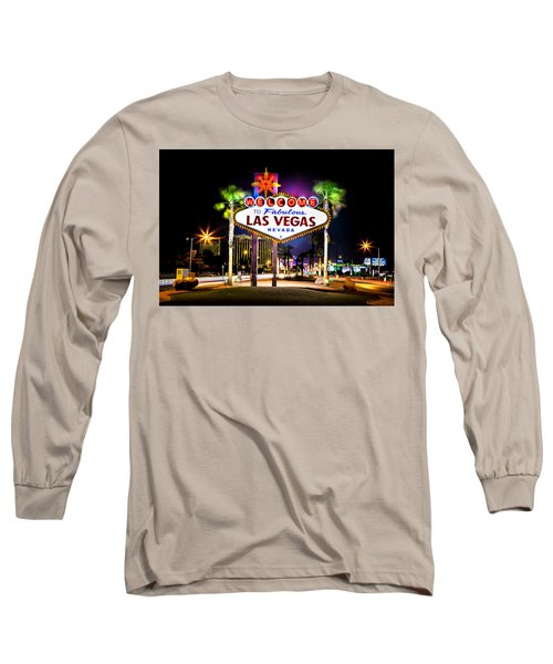Las Vegas Sign Long Sleeve T-Shirt by Az Jackson