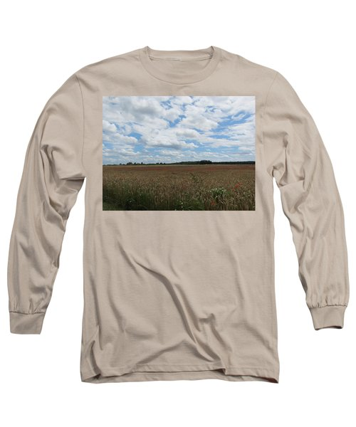 Long Sleeve T-Shirt featuring the photograph Last Of The Poppies by Pema Hou