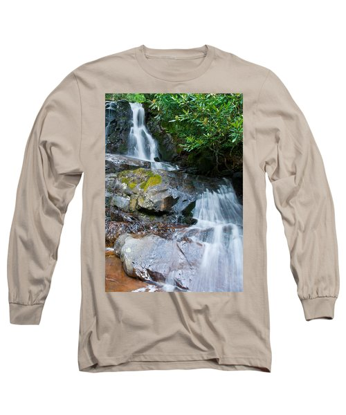 Laurel Falls Long Sleeve T-Shirt by Melinda Fawver