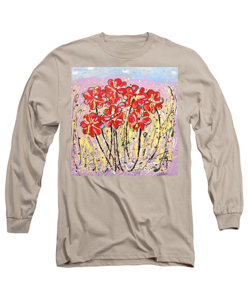 Lavender Flower Garden Long Sleeve T-Shirt