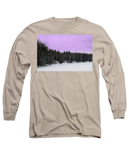 Long Sleeve T-Shirt featuring the photograph Lavender Skies by Bianca Nadeau