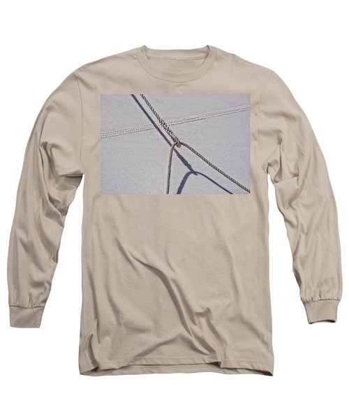 Long Sleeve T-Shirt featuring the photograph Lazy Jack-shadow And Sail by Marty Saccone