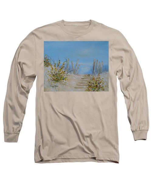Long Sleeve T-Shirt featuring the painting Lbi Peace by Judith Rhue
