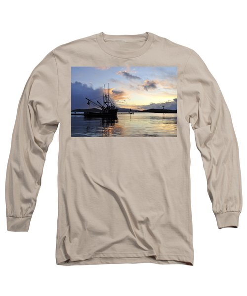 Long Sleeve T-Shirt featuring the photograph Leaving Safe Harbor by Cathy Mahnke
