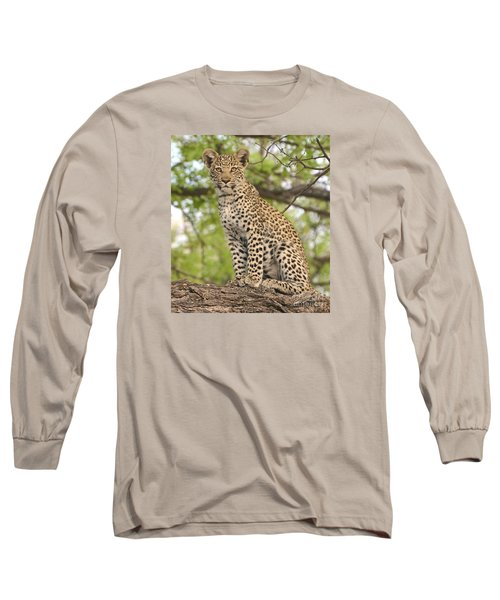 Leopard Cub Gaze Long Sleeve T-Shirt by Tom Wurl