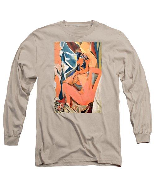 Les Demoiselles D'avignon Picasso Detail Long Sleeve T-Shirt by RicardMN Photography