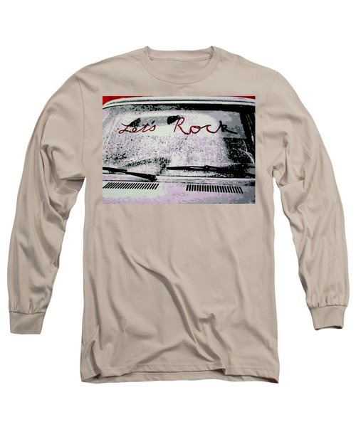 Long Sleeve T-Shirt featuring the painting Lets Rock by Luis Ludzska