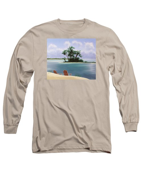 Let's Swim Out To The Island Long Sleeve T-Shirt by Jack Malloch
