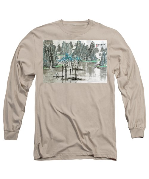 Long Sleeve T-Shirt featuring the photograph Li River In Spring by Yufeng Wang