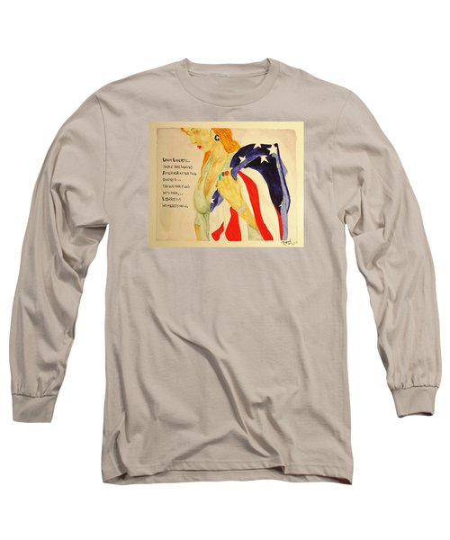 Long Sleeve T-Shirt featuring the painting The Divorce Of Liberty by Rand Swift
