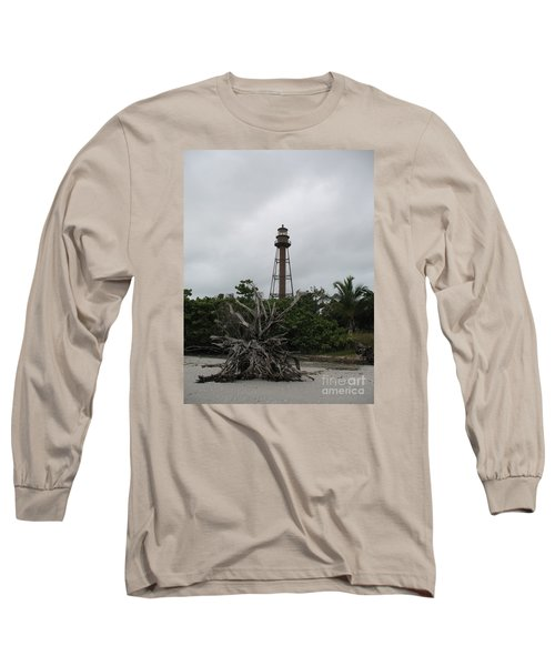 Long Sleeve T-Shirt featuring the photograph Lighthouse On Sanibel Island by Christiane Schulze Art And Photography