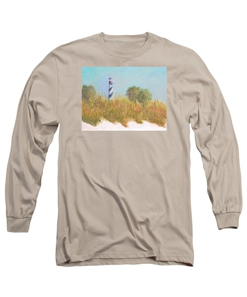 Lighthouse View From St. Augustine Beach Long Sleeve T-Shirt