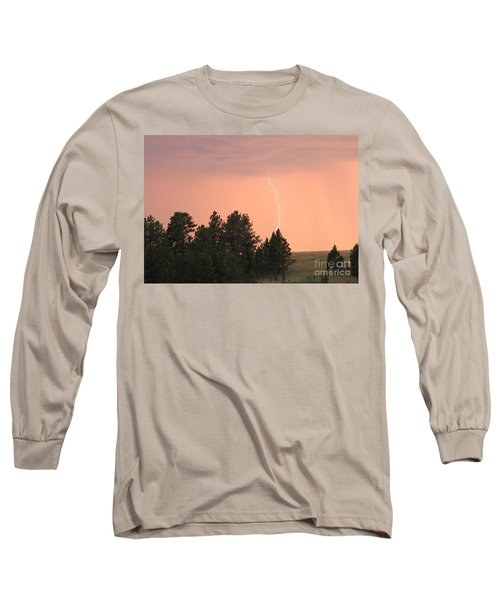 Lighting Strikes In Custer State Park Long Sleeve T-Shirt