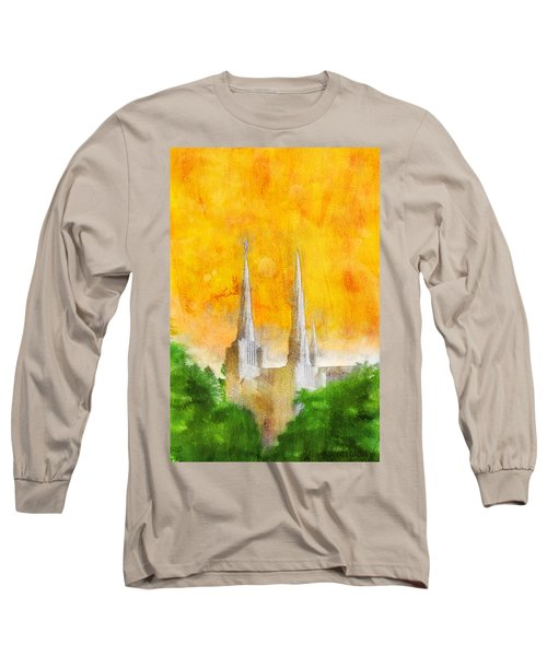 Long Sleeve T-Shirt featuring the painting Like A Fire Is Burning by Greg Collins