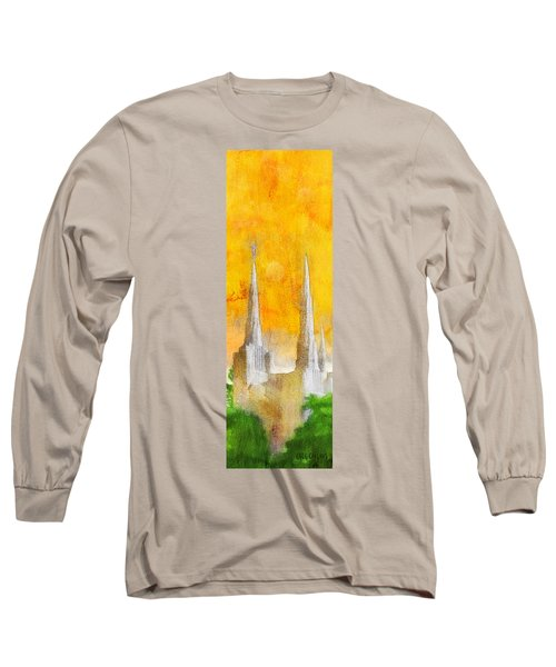 Long Sleeve T-Shirt featuring the painting Like A Fire Is Burning - Panoramic by Greg Collins
