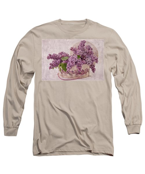 Long Sleeve T-Shirt featuring the photograph Lilacs In The Box by Sandra Foster