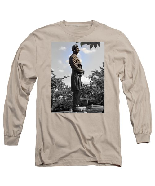 Lincoln At Lytle Park Long Sleeve T-Shirt by Kathy Barney