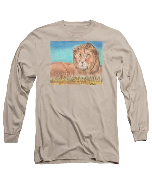 Lion Long Sleeve T-Shirt by David Jackson