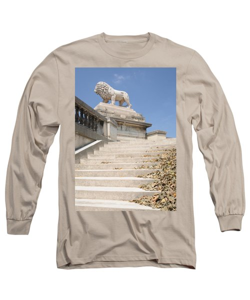 Lion Tuileries Garden Paris Long Sleeve T-Shirt by Jeremy Voisey