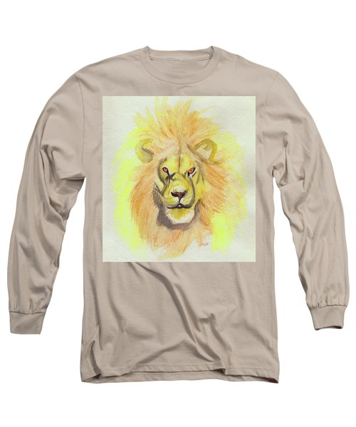 Lion Yellow Long Sleeve T-Shirt
