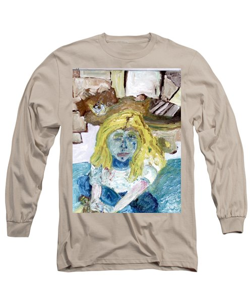 Little Girl Drawing Long Sleeve T-Shirt