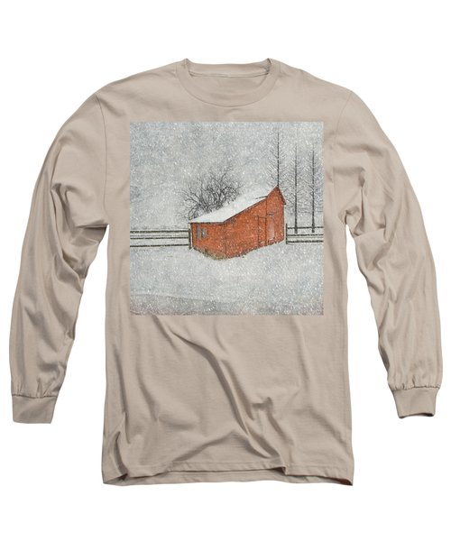 Little Red Barn Long Sleeve T-Shirt by Juli Scalzi