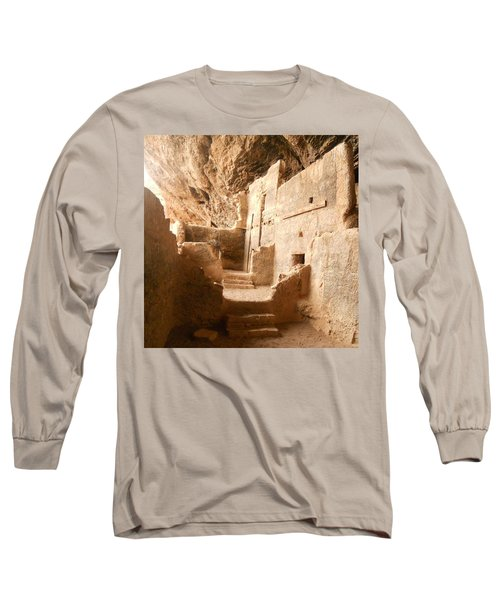 Long Sleeve T-Shirt featuring the photograph Living In The Rocks by Kerri Mortenson
