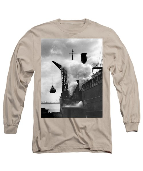 Loading Coal On To A Ship Long Sleeve T-Shirt