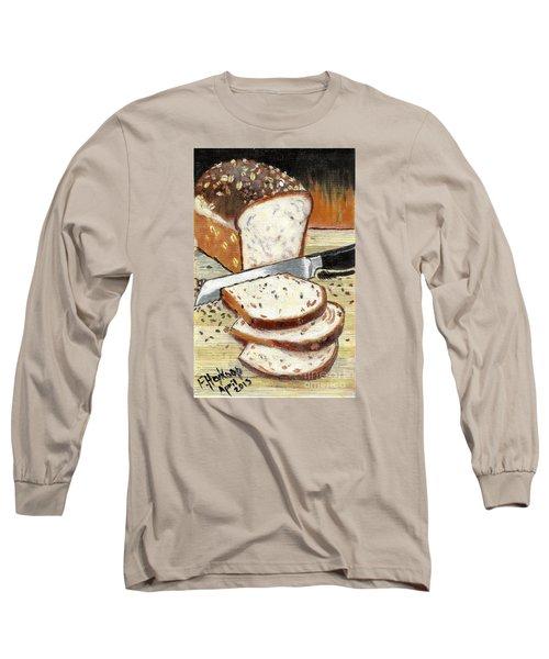 Loaf Of Bread Long Sleeve T-Shirt by Francine Heykoop