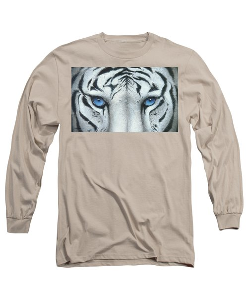Long Sleeve T-Shirt featuring the painting Locked In by Mike Brown