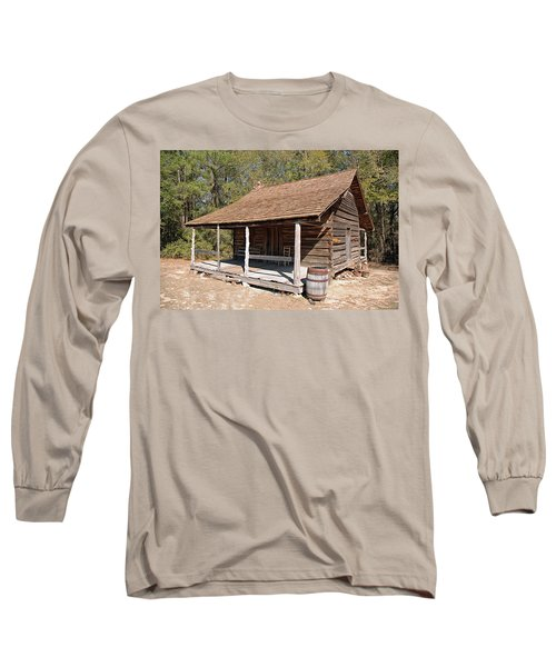 Long Sleeve T-Shirt featuring the photograph Log Cabin by Charles Beeler