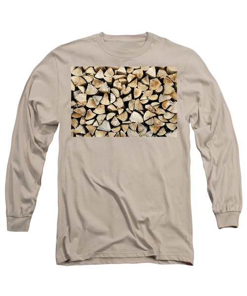 Logs Background Long Sleeve T-Shirt