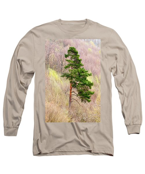 Long Sleeve T-Shirt featuring the photograph Lone Pine by Les Palenik