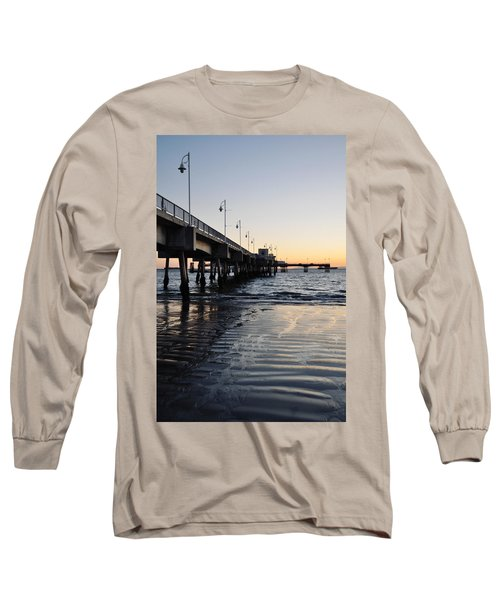Long Sleeve T-Shirt featuring the photograph Long Beach Pier by Kyle Hanson