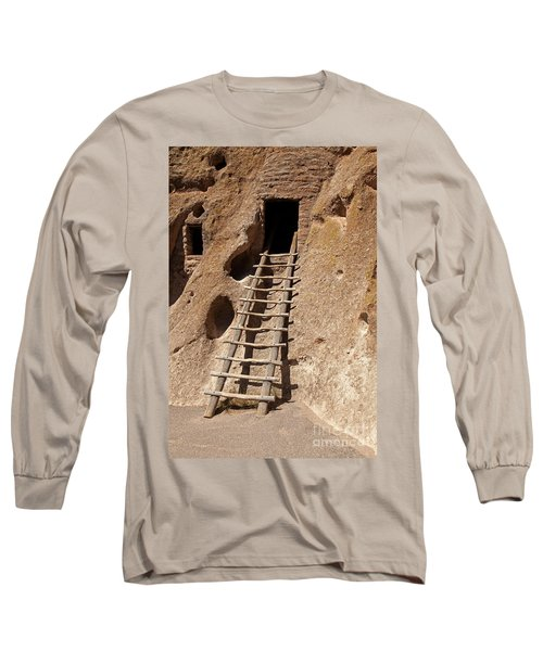 Long House Front Door Bandelier National Monument Long Sleeve T-Shirt