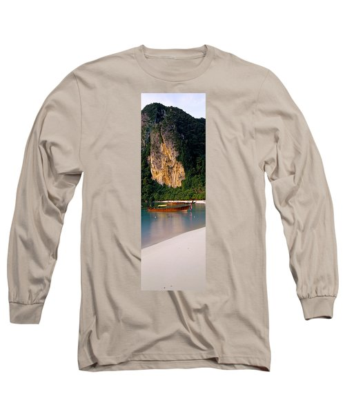 Longtail Boat In Ton Sai Bay, Phi Phi Long Sleeve T-Shirt