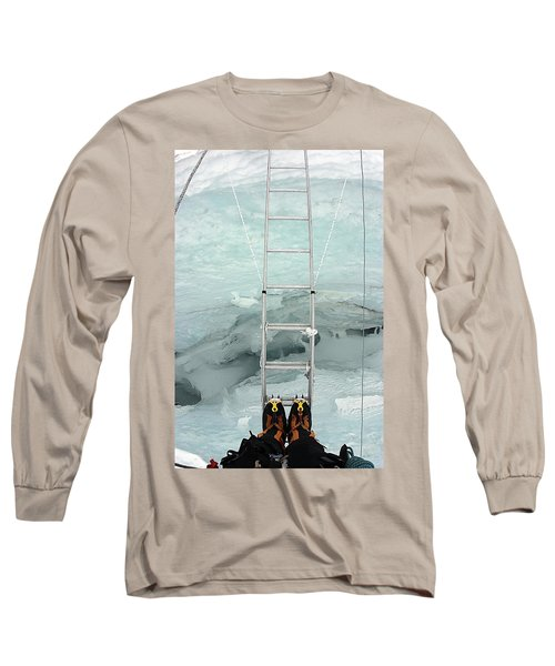 Looking Into Crevasse On Mount Everest Long Sleeve T-Shirt