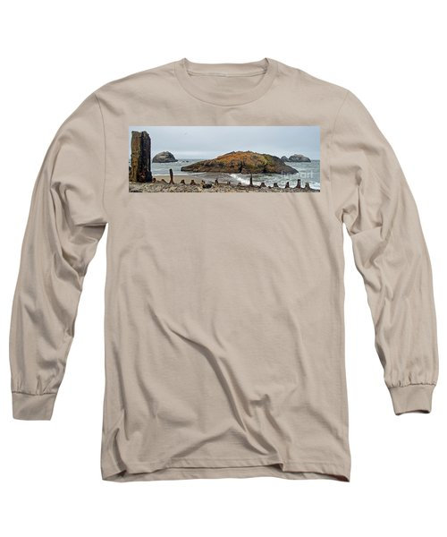Long Sleeve T-Shirt featuring the photograph Looking Out On The Pacific Ocean From The Sutro Bath Ruins In San Francisco  by Jim Fitzpatrick