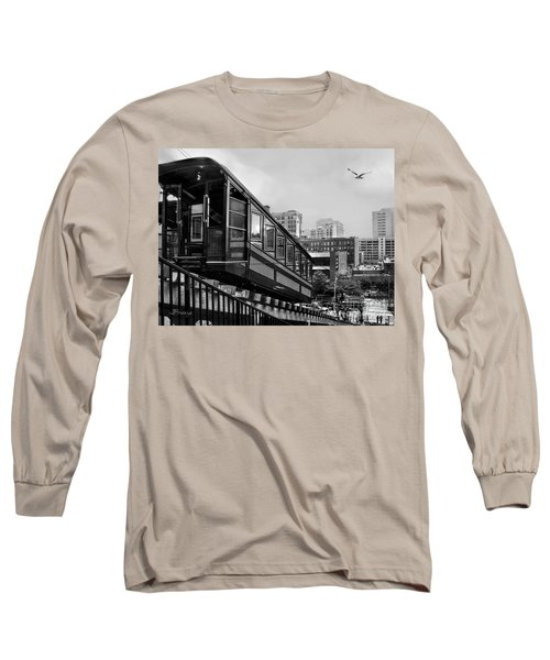 Los Angeles Angels Flight.bw Long Sleeve T-Shirt