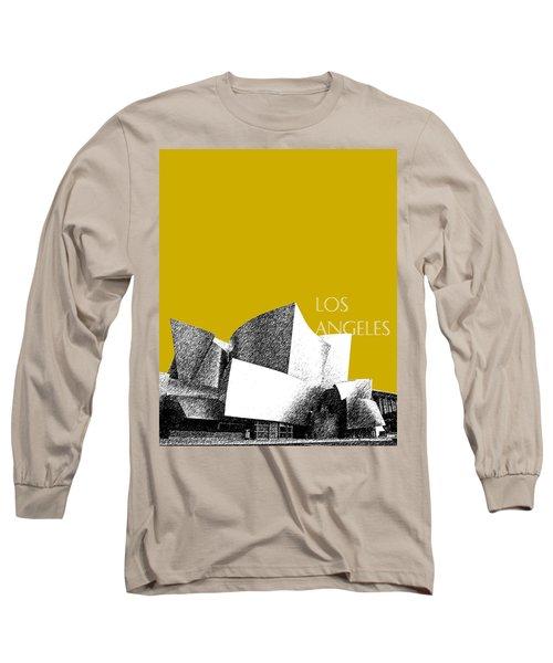 Los Angeles Skyline Disney Theater - Gold Long Sleeve T-Shirt