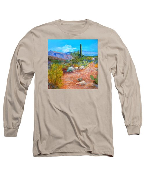 Long Sleeve T-Shirt featuring the painting Lot For Sale 2 by M Diane Bonaparte
