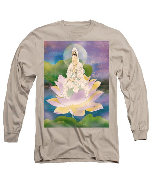 Long Sleeve T-Shirt featuring the photograph Lotus-sitting Avalokitesvara  by Lanjee Chee