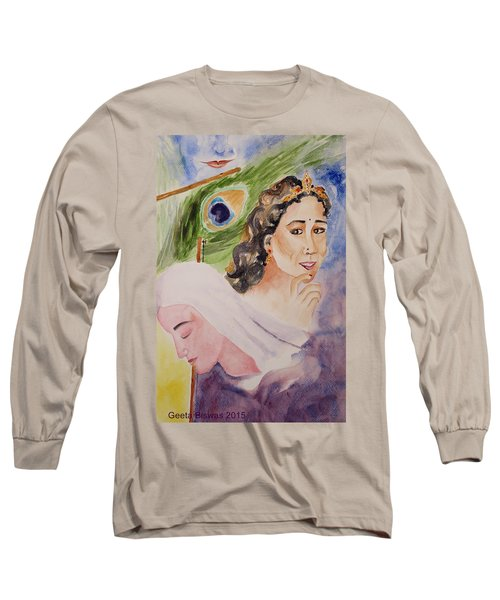 Love And Devotion Long Sleeve T-Shirt by Geeta Biswas