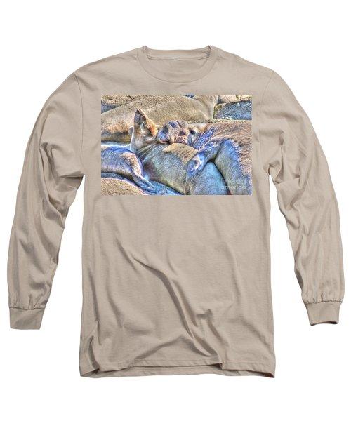 Love Hug - San Simeon California Long Sleeve T-Shirt