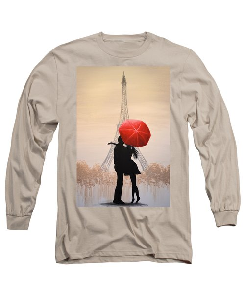 Long Sleeve T-Shirt featuring the painting Love In Paris by Amy Giacomelli