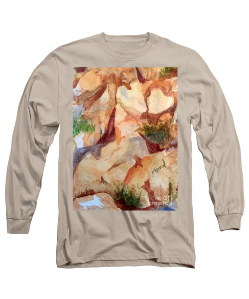 Love In The Rocks Medjugorje 2 Long Sleeve T-Shirt by Vicki  Housel